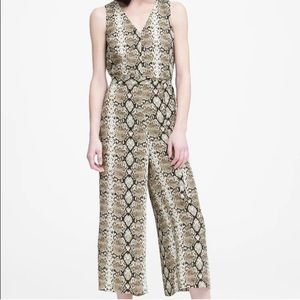 BANANA REPUBLIC Snake Print Wide Leg Jumpsuit